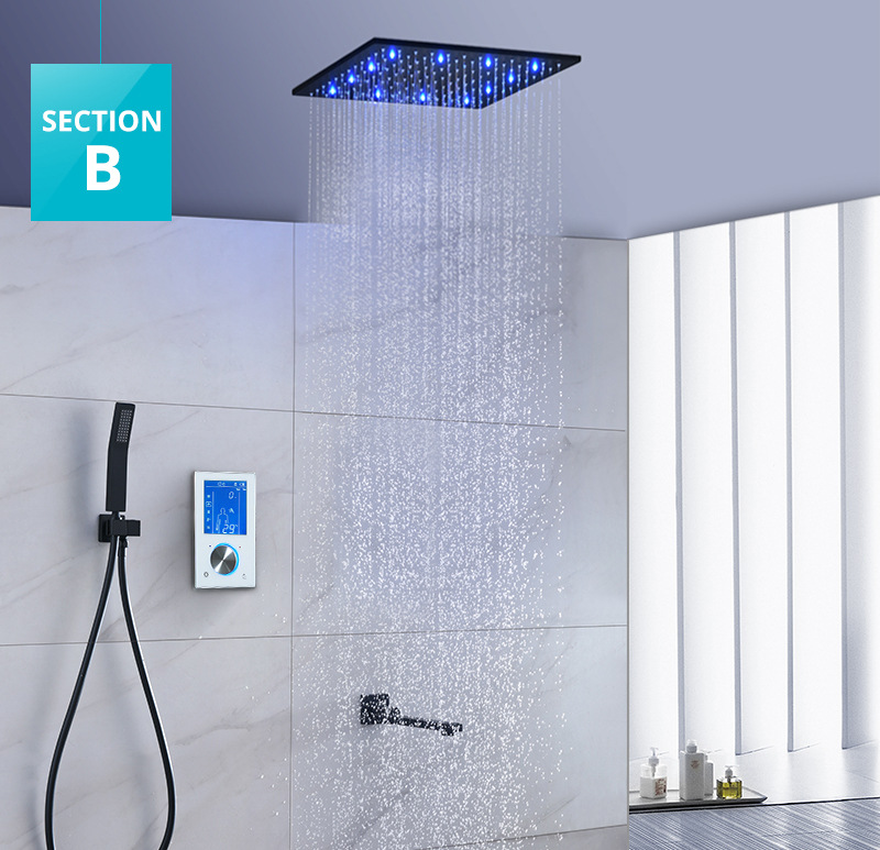 Free Shipping Wall Mounted Brass Shower Faucet with 8 Stainless Steel Mirror Polish Overhead
